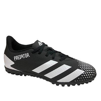 Chuteira Masculina Adidas Society Predator 20.4 - FW9205 - Preto-Branco
