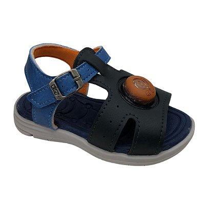 Sandália Infantil Menino Kidy Baby Light - 004-0001-2301 - Azul-Marinho-Laranja
