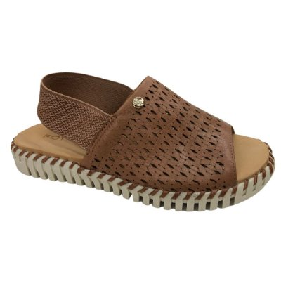 Sandália Feminina Bottero Couro Summer Botmara Burnish - 314408-1 - Amendoa