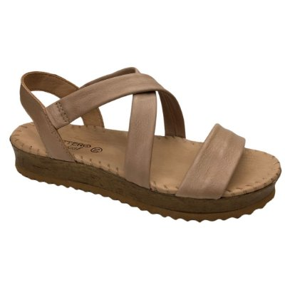 Sandália Feminina Bottero Couro Summer Burnish Botgarni Tropical - 322503-7 - Brown Sugar