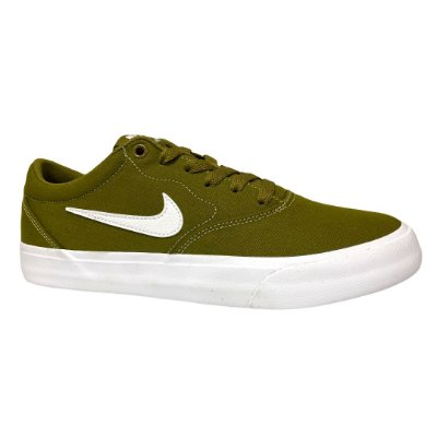 Tênis Masculino Nike Sb Charge Cnvs Olive Flak White Olive Flak - CD6279-300 - Oliva