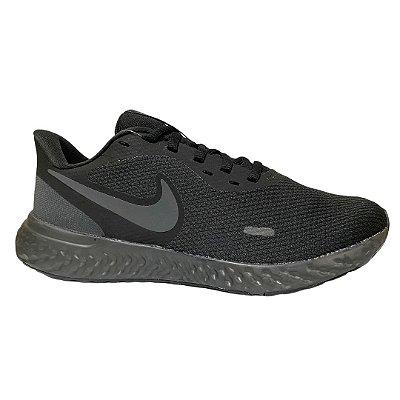 Tênis Masculino Nike Revolution 5 Black Anthracite - BQ3204-001 - Preto