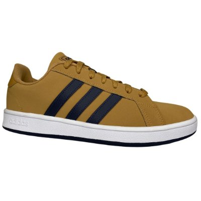 Tênis Masculino Adidas Grand Court Base - FV8482 - Marrom