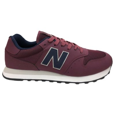 Tênis Masculino New Balance Casual Lifestyle - GM500BQ1 - Bordo/Azul