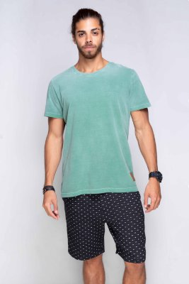 Camiseta Básica Azor Premium Verde Estonada