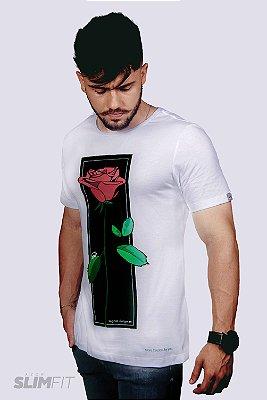 Camiseta Slim Fit Azor Ingrid Bergman Branca
