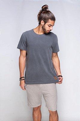 Camiseta Básica Azor Premium Grafite Estonada