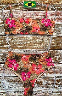 Biquíni Hot Pant Flores