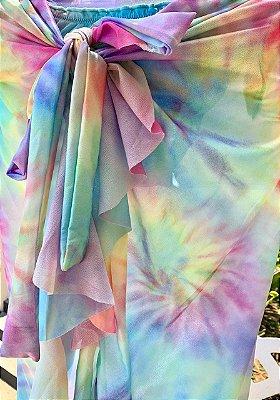 Saia Longa Pareô Tie Dye Candy Color - TAMANHO ÚNICO (38 ao 44)