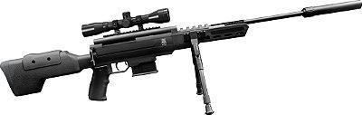 Carabina pressao BLAK OPS SNIPER 5,5mm Nitro c/Luneta 4x32 + acessórios