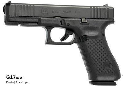 Pistola GLOCK G17 Gen5  9mm Luger