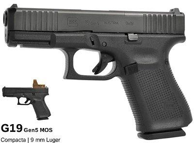 Pistóla GLOCK G19 Gen5 MOS 9mm Luger