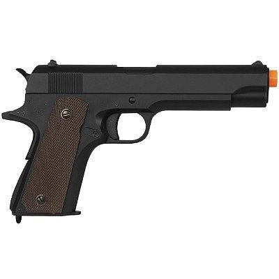 Pistola Airsoft CYMA elétrica CM.123 COLD 1911 METAL automática 6mm