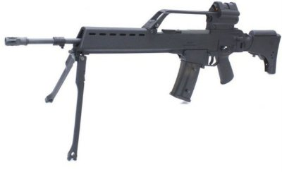 Fuzil Airsoft HK-G36 ST-AEG-07 BK 6mm c/luneta RED DOT