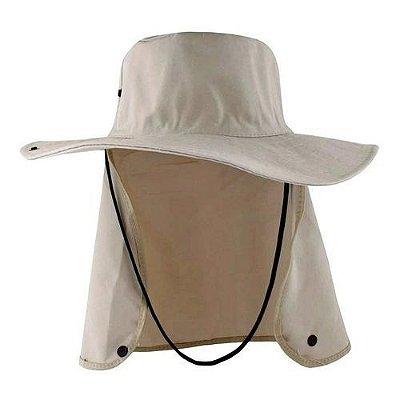 chapéu pescador com proteção