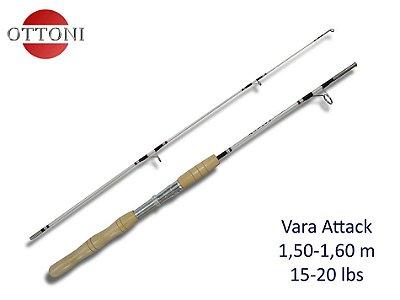 Vara Molinete Ottoni ATTACK SSK-8150-2 1.5mt 10-25lb Cabo de Madeira