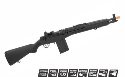 Airsoft Rifle AEG CYMA M14 SCOUT 6MM FULL  (CM032A BK)