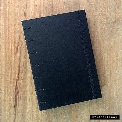Caderno artesanal ALL BLACK