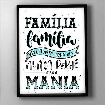 """Quadro """"Família Família"""""""