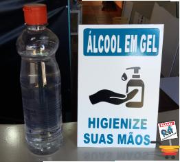 display alcool em gel