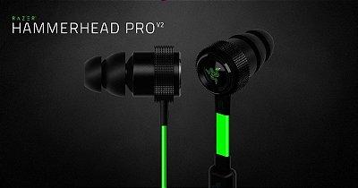 Fone Razer Hammerhead Pro V2 (Com Microfone)