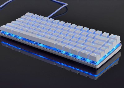 Teclado Mecanico Ajazz AK33 Branco LED Azul