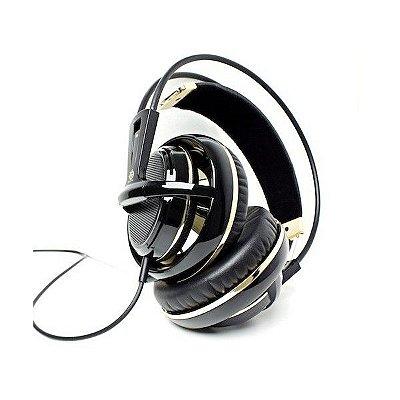Headset Steelseries Siberia V2 Preto e Dourado