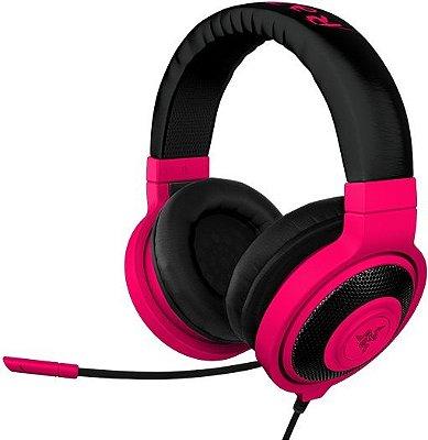 Headset Razer Kraken Pro Neon Vermelho
