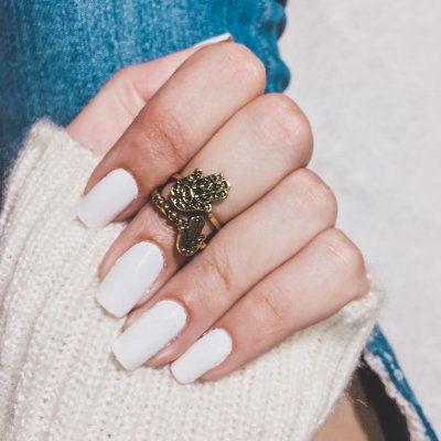 Anel de falange, mão de fátima, duplo, dourado - F053