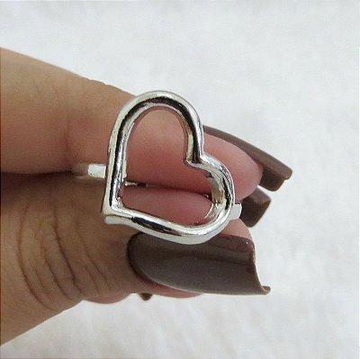 Anel new collection, coração, prateado - REF A023