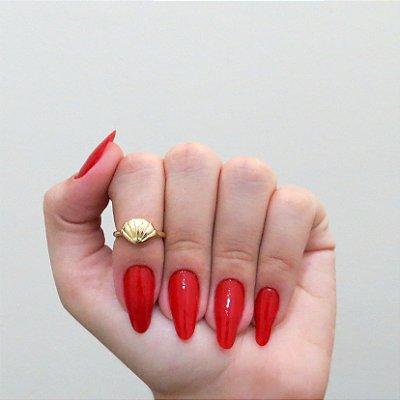 Anel de falange, concha, dourado - REF: F013