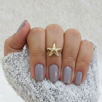 Anel de falange, estrela do mar, dourado - REF: F016