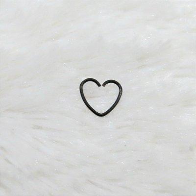 Piercing indiano, coração, preto - REF X022