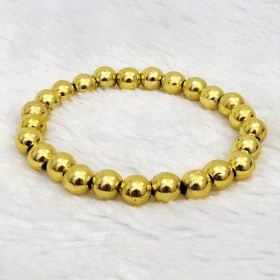 Pulseira de bolinhas, dourada - REF P056