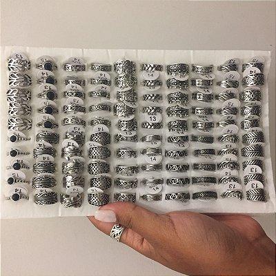 PACK 39 - 100 anéis de falange - Nº 13, 14 e 15 - R$ 1,30 cada - REF: F019