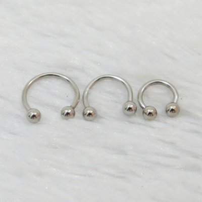 Piercing indiano fake - trio - Prateado - REF X004