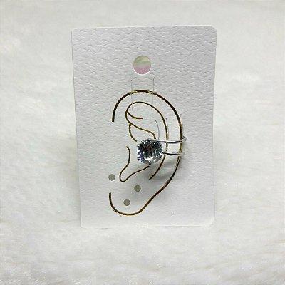 Brinco ear cuff, shine, prateado - REF B055