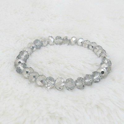 Pulseira crystal, bold, prateada mescla - REF P100