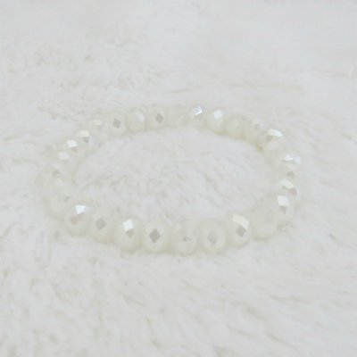 Pulseira crystal, bold, off white - REF P101
