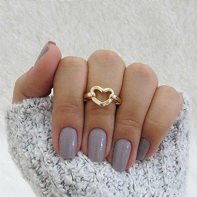 Anel de falange, love, dourado - REF: F036
