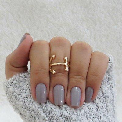 Anel de falange, âncora, dourado - REF: F037