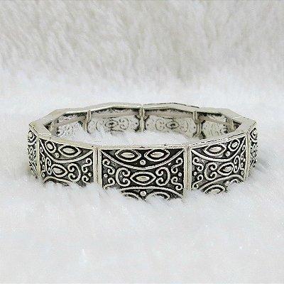 Pulseira bracelete tai, prateada - REF P194