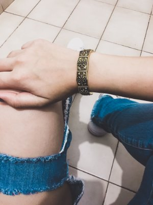 Pulseira bracelete tai, dourada - REF P438