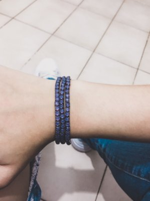 _Conjunto de pulseiras star, 3 peças, lilás - REF P455