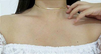 Choker stones, line, dourada