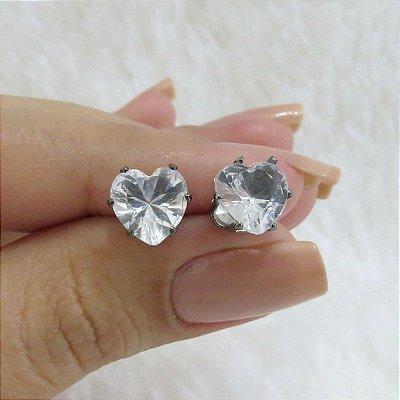 Brinco new collection, coração cristal - REF B251