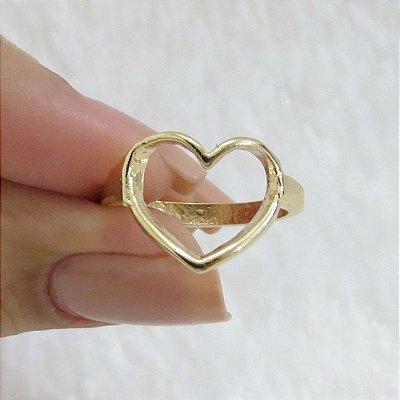 Anel New Collection, coração, dourado - REF A290