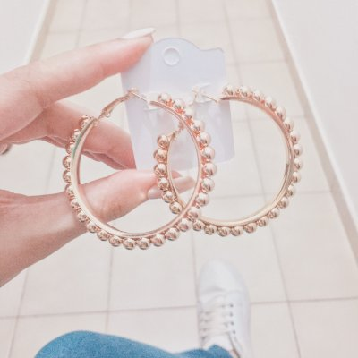 Brinco new collection, argola stylish, dourado - REF B255