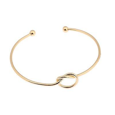 Pulseira bracelete, nó, dourado - REF P245