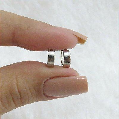 Brinco mini argola, bold, prateado - REF B269